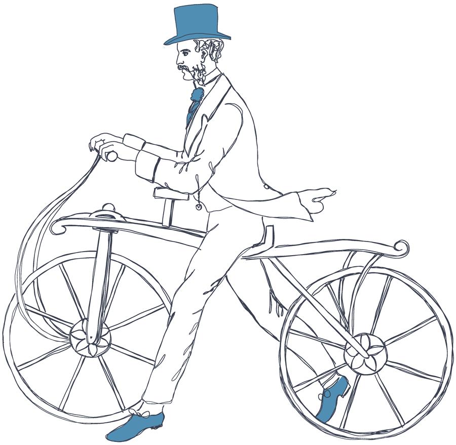 Draisine-Illustration_Fahrradmuseum-Ybbs