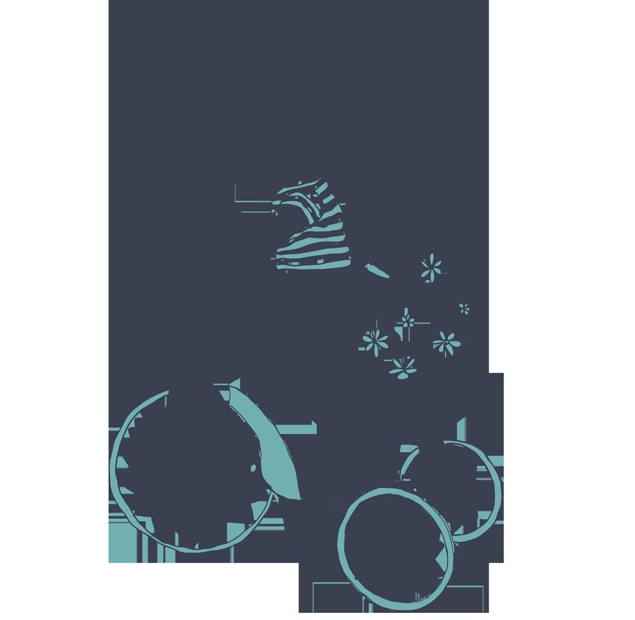 Kinderraeder-Illustration_Fahrradmuseum-Ybbs